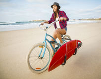 Going to Surf Royalty Free Stock Image