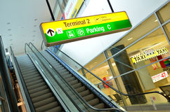 Vaclav Havel Airport Prague - Terminal 2 Royalty Free Stock Photos