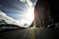 Going-to-the-Sun Road Royalty Free Stock Photos