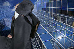 Going to work. Businessmen on his way to the office Royalty Free Stock Image