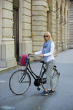 Going to work by bike Royalty Free Stock Image