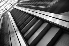 Going up with escalator Royalty Free Stock Photography