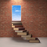 Going Up To Success Stock Photo