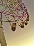 Going up. A vintage picture of a ferris wheel Royalty Free Stock Images