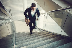 Going upstairs Royalty Free Stock Image