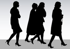 Going women Royalty Free Stock Images