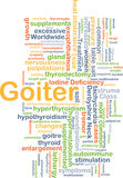 Goiter background concept Royalty Free Stock Image