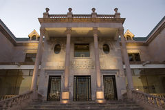 Goitia museum. Access to the museum Francisco Goitia at Zacatecas royalty free stock images