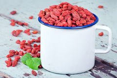 goji ягод предпосылки деревянное Стоковое Фото