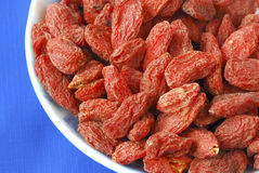 Goji berries also called wolfberries Royalty Free Stock Photos
