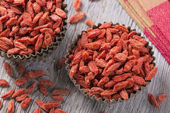 Goji berries in a bowl Royalty Free Stock Photography