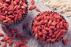 Goji berries in a bowl Royalty Free Stock Photo