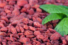 Goji berries close-up Stock Photo