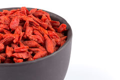 Goji berries close up Royalty Free Stock Images