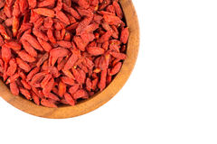 Goji berries close up Royalty Free Stock Image