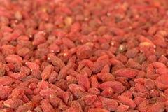 Goji berries. Close-up of organic goji berries Stock Photography