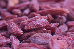 Goji berries closeup Royalty Free Stock Photo