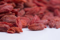 Goji berries closeup Stock Images