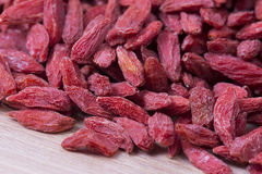 Goji berries closeup Stock Photos