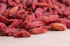 Goji berries closeup Royalty Free Stock Images