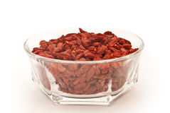 Goji Berries in a cup Royalty Free Stock Photos