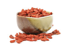 Goji Berries in a Dish Royalty Free Stock Photo