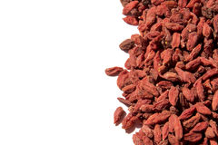 Goji berries isolated on white background photo. Beautiful pictu Stock Images