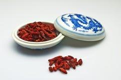 Goji-berries, Lycium barbarum Royalty Free Stock Photography