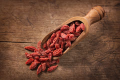 Goji berries in a spoon Stock Photos