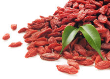 Goji berries on white background Stock Images