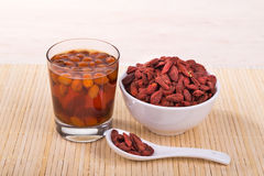 Goji berries or Wolfberry tea remedy to improve eyesight Stock Photography