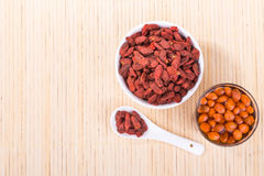 Goji berries or Wolfberry tea remedy to improve eyesight Stock Images