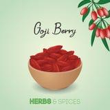 Goji berry background Royalty Free Stock Photos