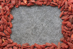 Goji berry frame Royalty Free Stock Photography