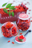 Goji berry jam Royalty Free Stock Photos