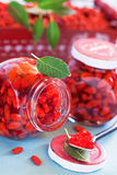 Goji berry jam Stock Photo