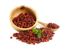 Free Goji Berry On White Royalty Free Stock Image - 104756066