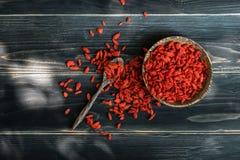 Goji Berry. Organic dried goji berry, healthy food stock photography