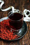 Goji and drink Royalty Free Stock Photography