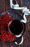 Goji and drink Royalty Free Stock Photo