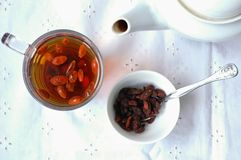 Goji tea stock photography