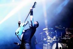 Gojira ciężkiego metalu muzyczny zespół wykonuje w koncercie przy Primavera dźwięka 2017 festiwalem fotografia stock