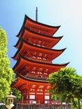 goju miyajima ingen pagoda till Royaltyfria Bilder