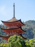 Goju-nenhum-ao pagode, ilha de Itsukushima, Jap?o fotografia de stock royalty free