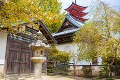 Goju-no-to pagoda of Itsukushima Shrine on Miyajima, Japan Royalty Free Stock Images