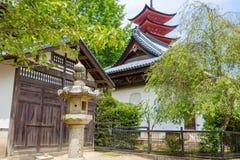 Goju-no-to pagoda of Itsukushima Shrine on Miyajima, Japan Royalty Free Stock Photo