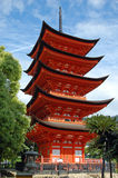 Goju-No-To Pagoda, Miyajima, Japan. The five-tiered pagoda on the Japanese island of Miyajima Royalty Free Stock Image