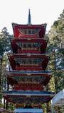Gojunoto vijf-Verhaal Pagode bij Toshogu-Heiligdom royalty-vrije stock afbeeldingen