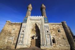 Gok Madrasa o cielo Madrasa en Sivas Imagenes de archivo