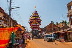 Gokarna,卡纳塔克邦,印度 西瓦默西-马哈巴莱斯赫瓦尔lingam 免版税库存图片